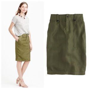 J. Crew Linen Cargo Pencil Skirt